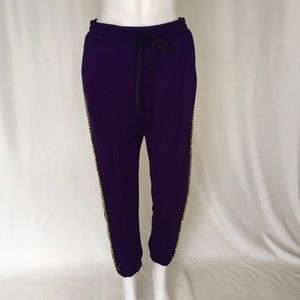 TECHNICAL JERSEY JOGGING PANT IN PURPLE  SIZE L